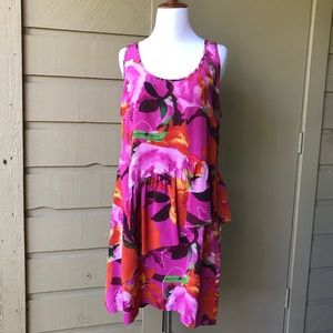 Trina Turk Silk Floral Dress Size 12